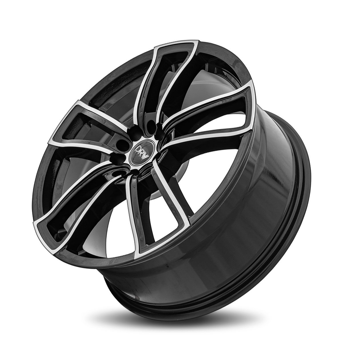 DRW D12 18X8 Gloss Black Machine Face