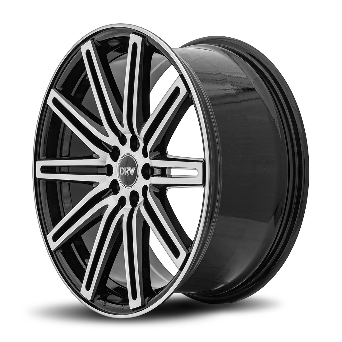 DRW D13 18X8 Gloss Black Machine Face