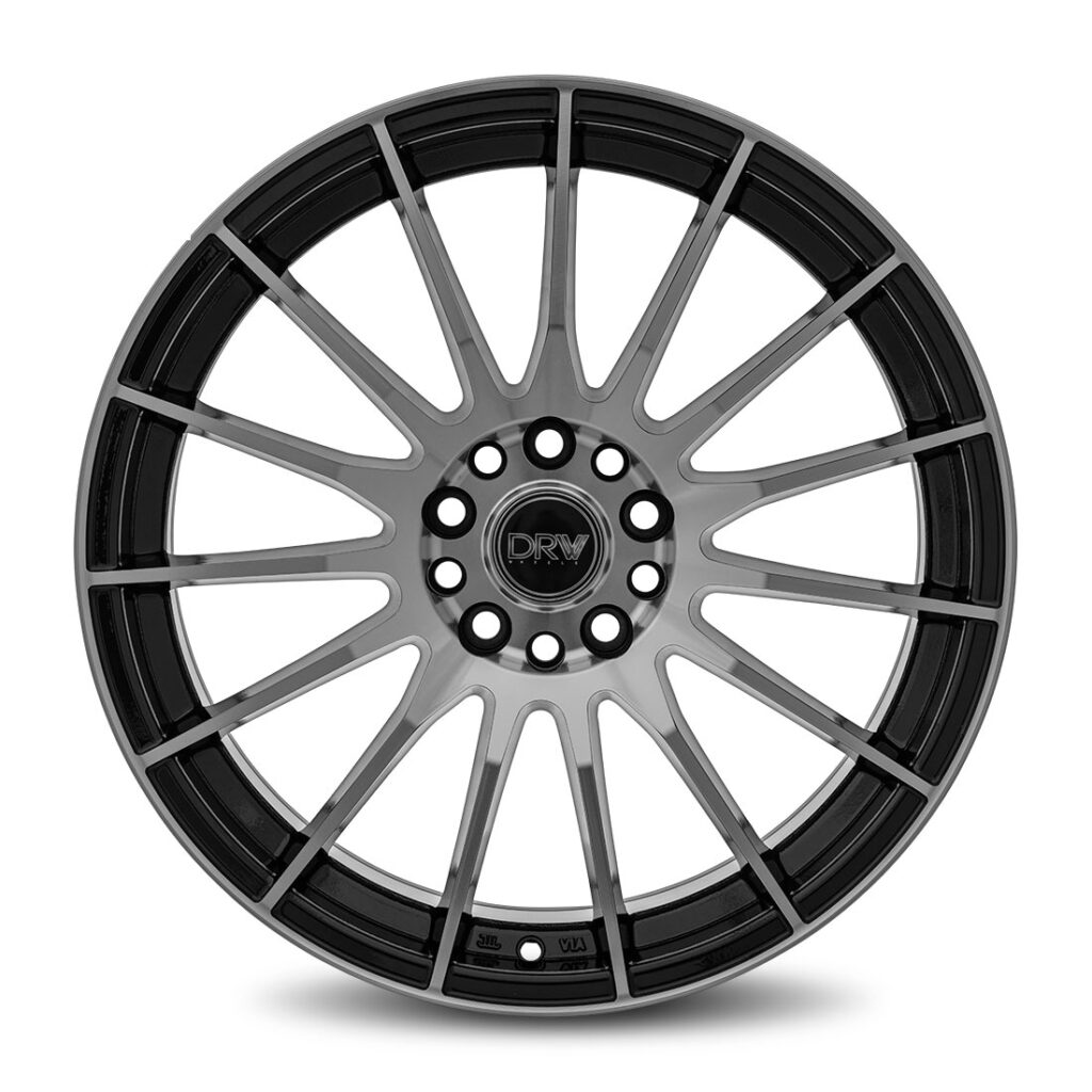 DRW D15 18X8 Gloss Black Machine Face