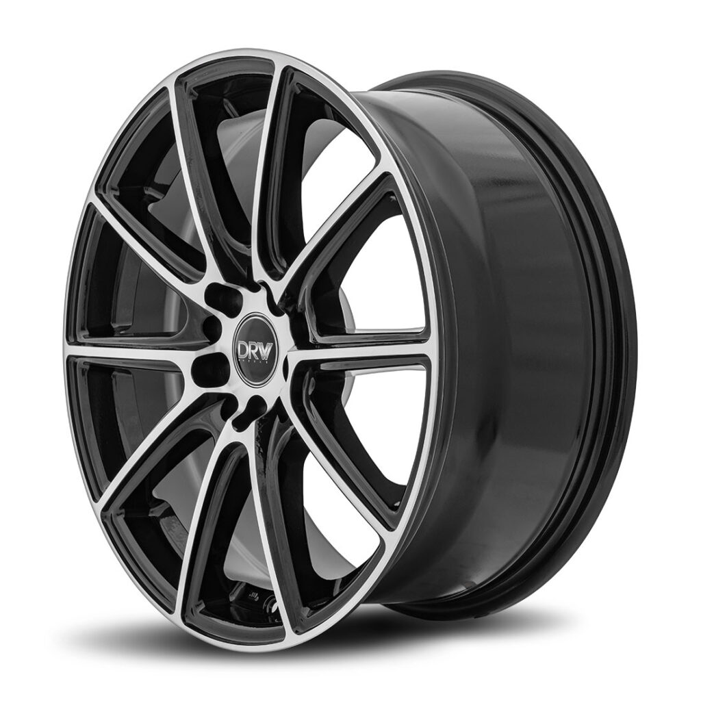 DRW D16 18x8 Gloss Black Machine Face