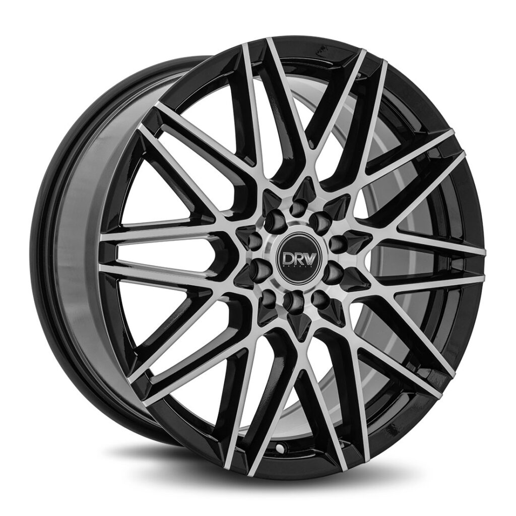 DRW D17 18x8 Gloss Black Machine Face