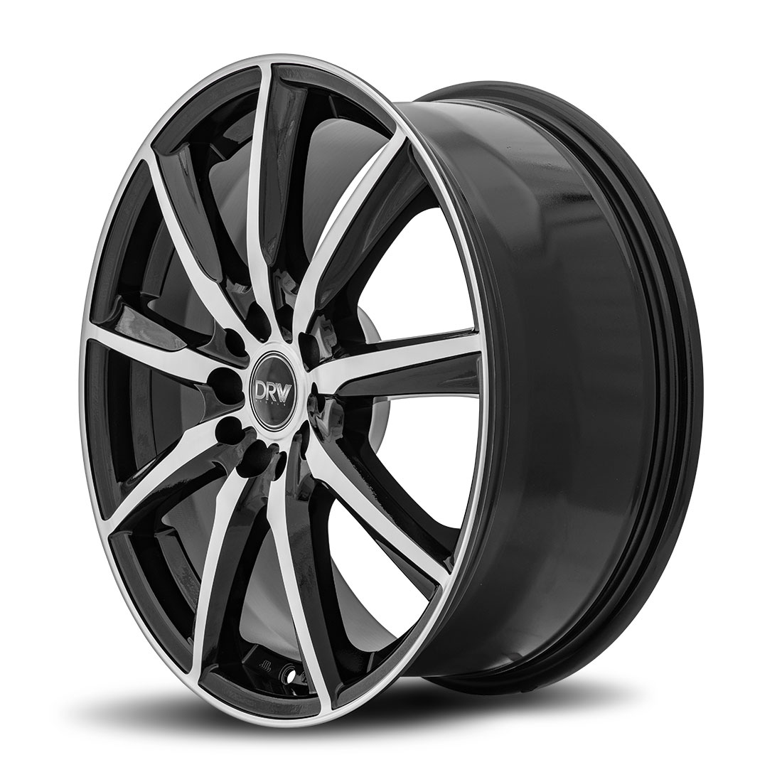 DRW D18 18x7.5 Gloss Black Machine Face